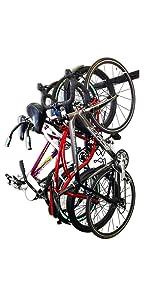 blat bike wall rack metal 4 four hanger hooks storage garage steel metal strong indoor hanger best