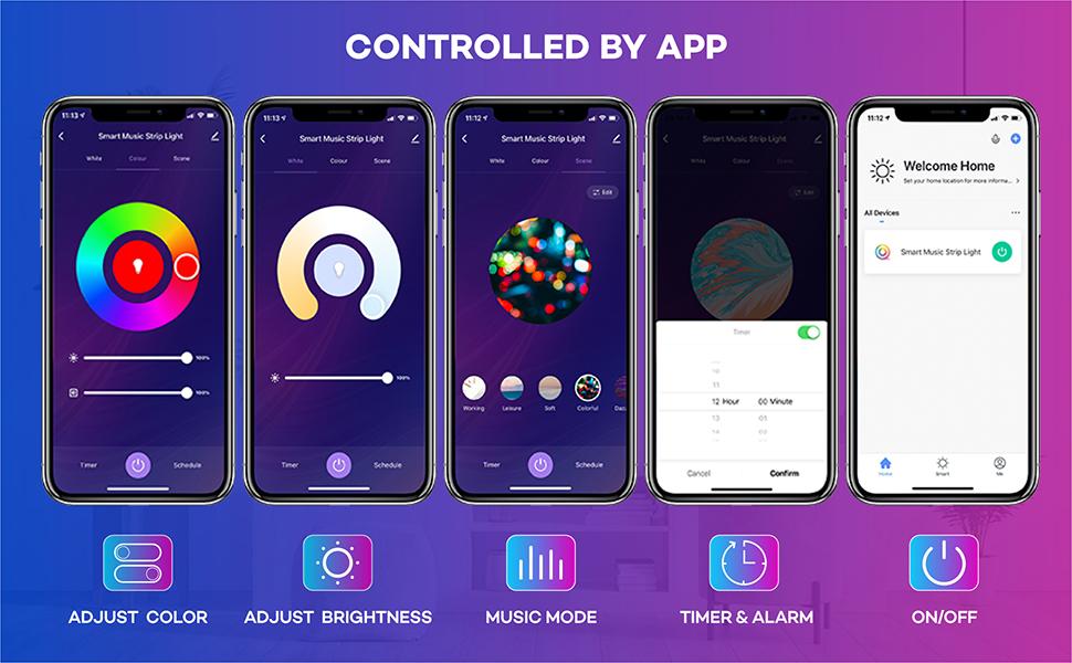 smart app led strip light