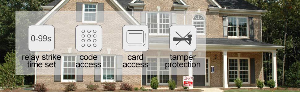 keypad door access control