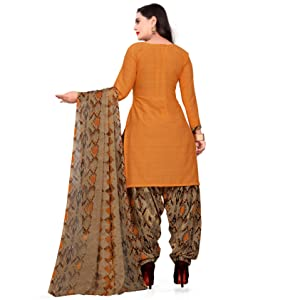 Rajnandini Women's Crepe Printed Unstitched Dress Material
