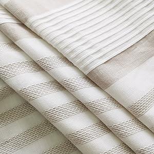 yarn dye stripe duvet cover set