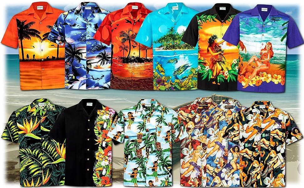 Camisa Hawaiana | Hombre | Señores | 100% Algodón | Talla S - 8XL ...