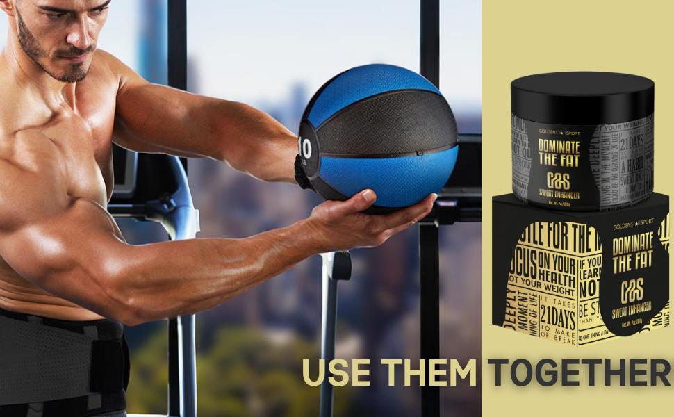 Dominate the fat workout enhancer sweat cream gss goldenstarsport sweat thermogenic burn cellulite