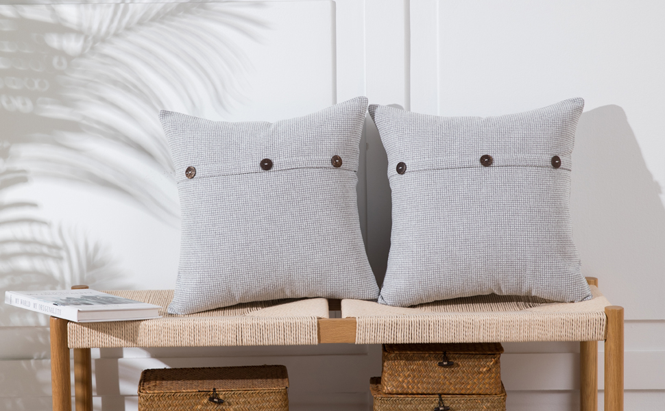 light gray pillows
