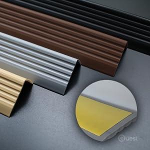 QUEST Treppenkantenprofil SELBSTKLEBEND PVC Gummi Kantenschutz 40x25 150CM CREMEFARBEN