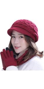 Winter Hat Gloves Scarf Set (3 in 1)