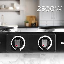 placa placas cocina hornillo fuego camping portatil electrica electronica doble sarten sano