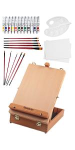27 PCS Box Easel Painting Set