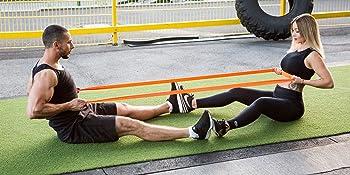 ActiveVikings Bandas de fitness de primera calidad para tu fitness – Bandas de tela perfectas para el desarrollo muscular – Banda de resistencia – ...