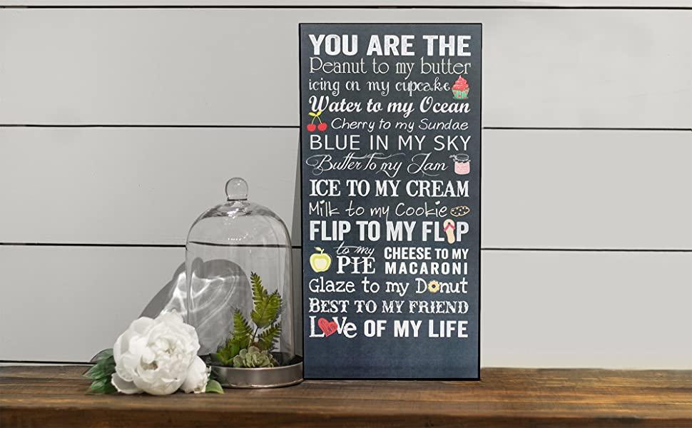 Amazon Com P Graham Dunn You Are The Peanut To My Butter Love Of My Life 18 X 9 Wood Wall Plaque Sign Home Kitchen