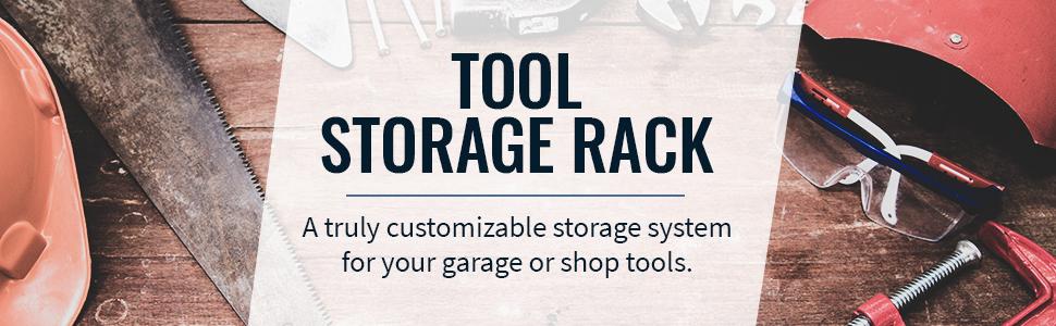 storeyourboard omni tool max storage rack indoor organizer wall hooks adjustable steel metal 200 lbs