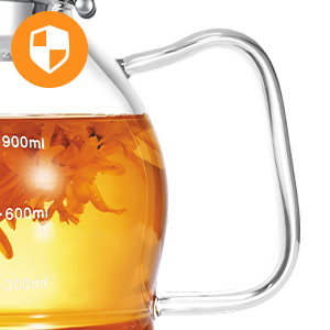 Flower tea pot