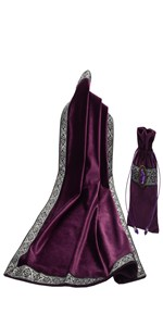 Purple tarot table cover pouch