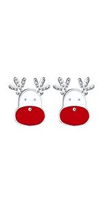 Pendientes renos navideños