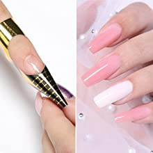 Horseshoe-shaped nail extension forms