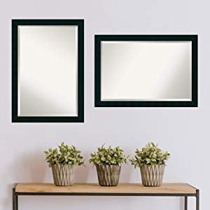 wood bathroom wall mirrors