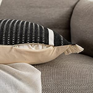 Modern Throw Pillow Cover with Tassels