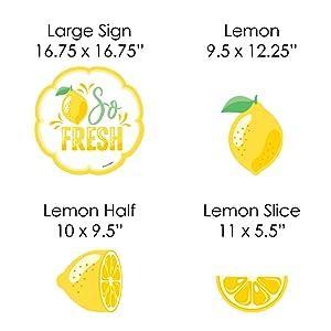 So Fresh - Lemon Yard Signs Set