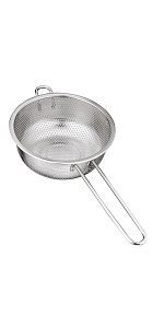 BasicForm Micro-Perforated Colander with Long Handle Stainless Steel 16.5cm