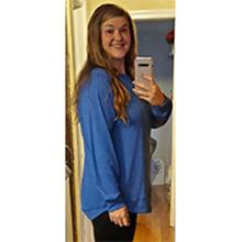 ZEGOLO Women's Tunic Top Loose Casual Cotton O Neck Blouse Long Sleeve Summer T-Shirt Top