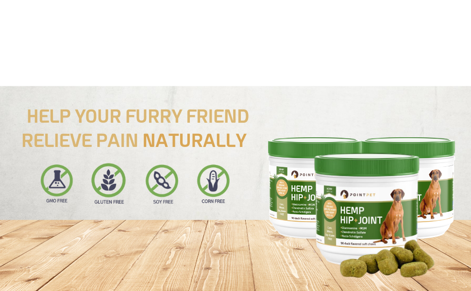 PointPet Hemp Hip And Joint Supplement for Dogs