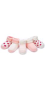 Adorel Calcetines Invierno de Rizo para Bebé Niña Lote de 5