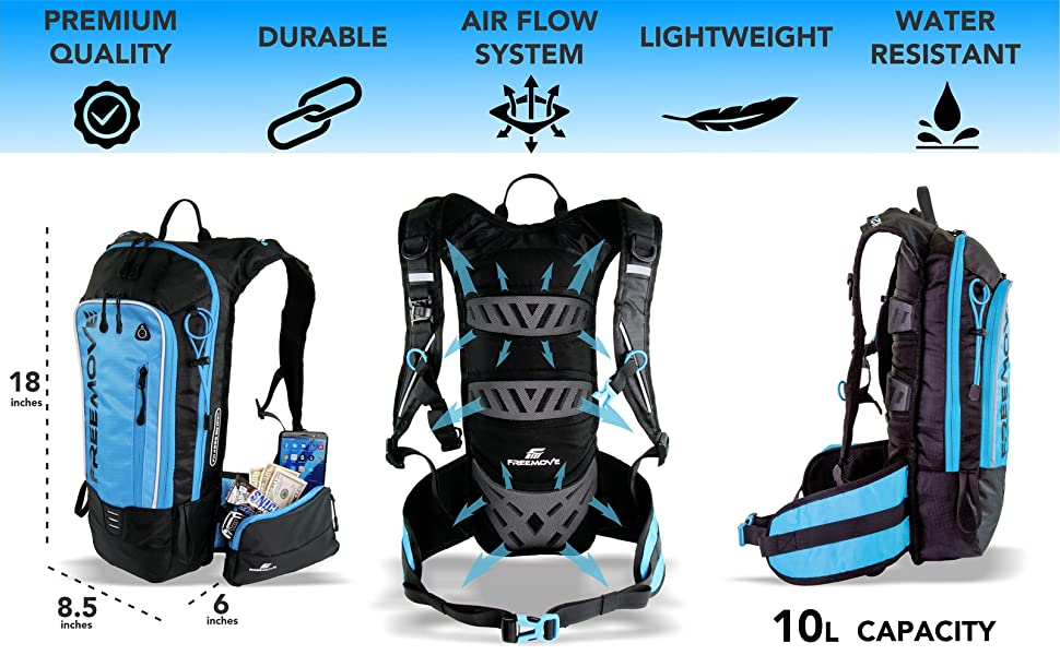 FREEMOVE hydration backpack daypack water bag hiking backpack running gear camelbak cycling camel