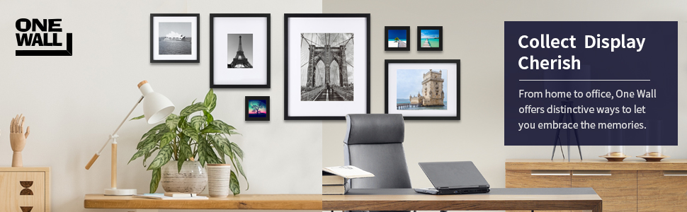 ONE WALL Tempered Glass 11x11 Picture Frame