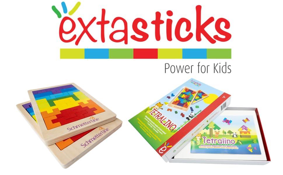 Tetris wooden puzzle Extasticks puzzle kids brain training Alzheimer dementia children 3 years kids