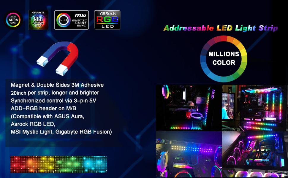 Magnetic Digital RGB LED Strip
