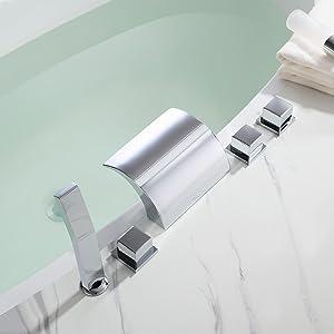 waterfall tub filler faucet