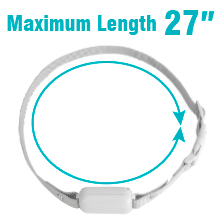step 4: Slide to get the maximum collar length 27 inches