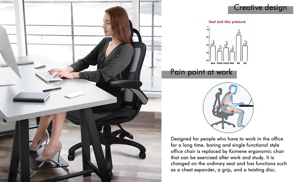 Ergonomic design and lumbar support