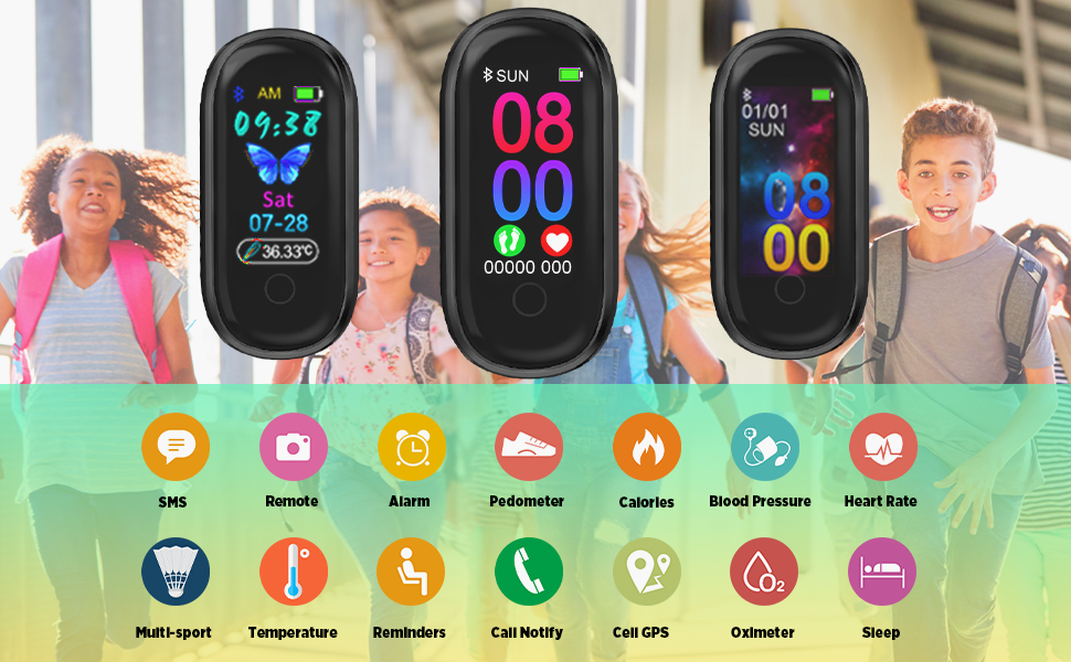Kids Fitness Tracker Kids Watch for Kids - Kids Watches Kids Smart Watch Activity Tracker GPS fit