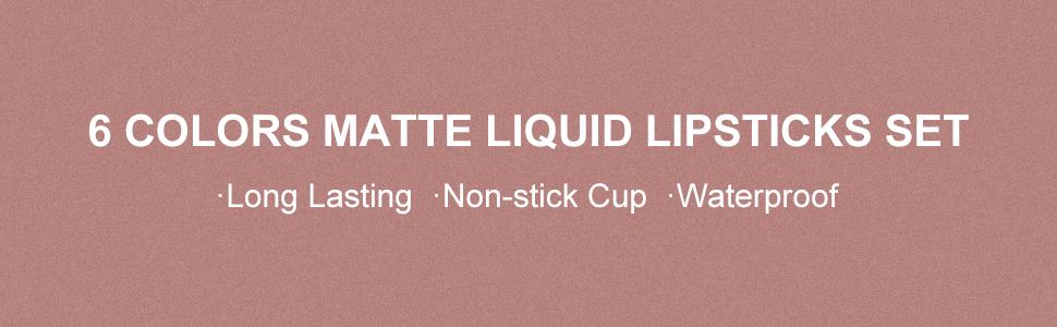 6PCS liquid lipsticks gift set