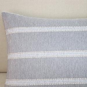 stripe lumbar throw pillow covers