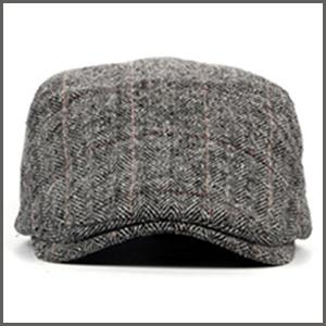 Mens Tweed Flat Cap Driving Hat Newsboy Cap