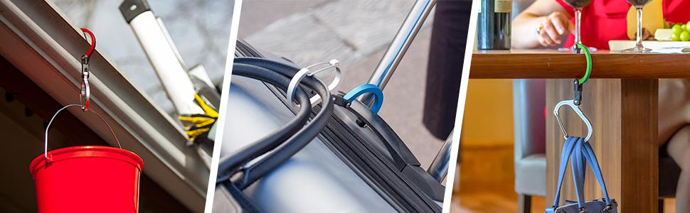heroclip, diy, travel, dining, handbag hanger clip hook