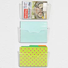 file holder  6 Pack – Simple Houseware Clear Plastic Desk Drawer Organizers 341108bc 4856 4f78 9bab ed686c41ee9a
