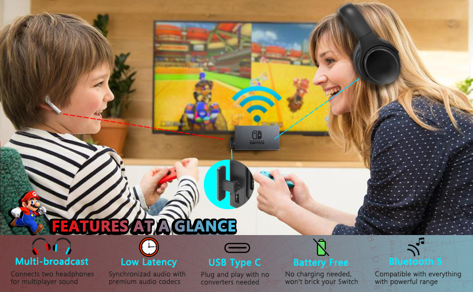 Bluetooth Audio for the Nintendo Switch