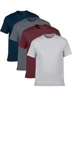 cotton short sleeve t shirt 4 pack