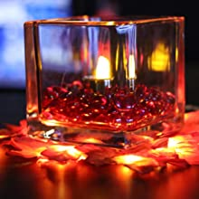 candle holder container glass vase accent light decoration liquid feature
