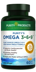 vegan omega 3 6 9 purity products algal oil