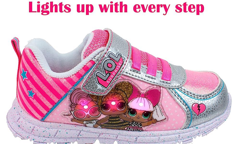 Girls Sneakers, Light Up Tennis Shoe