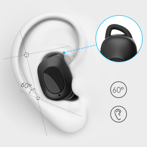 Earbuds Wireless Headphones, Muzili Cordless Earbuds Bluetooth 5.0 with 3000mAH Charging Case, Immersive Audio, Solid Connection, IPX7 Waterproof ...