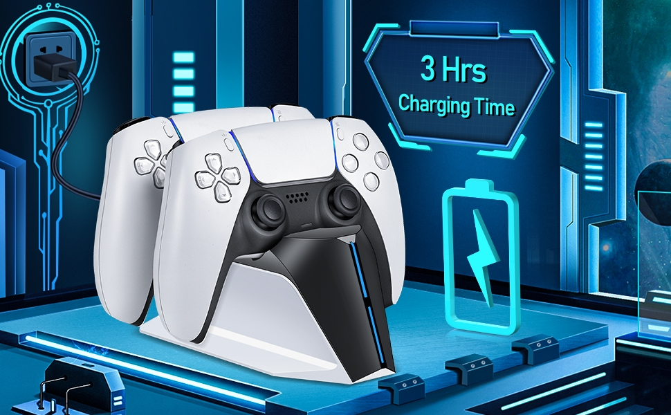 TwiHill PS5 Charging Station, PS5 Controller Charger Station para Playstation 5 Dualsense Controller