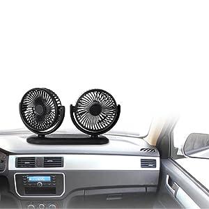 portable dual car fan vehicle fan SUV sedan car van truck RV ATV boat personal car fan desktop home
