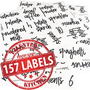 ABOUT WHAT'S INCLUDED talented kitchen pantry script labels