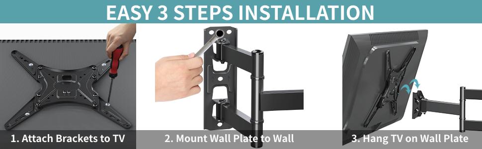 full motion wall mount tv bracket tv wall mount 40 inch tv swivel mount
