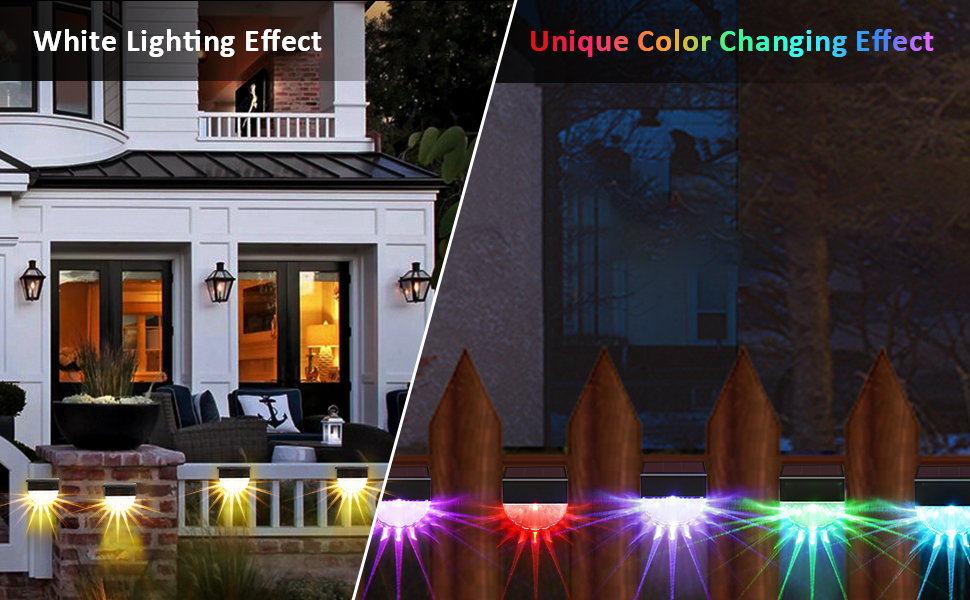 solar lights outdoor color changing